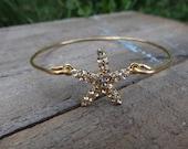 Brass Bling Starfish Bangle- Buy 3 Get 1 FREE!