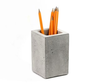 Concrete Square Cup, Toothbrush Holder, Pencil Holder