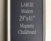 LARGE FRAMED CHALKBOARD Modern Vintage White Huge Kitchen Organizer Art Work Display Kids Chalkboard Chalk Board Office - MoRE CoLORS