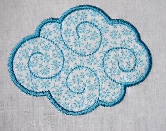 Cloud Applique machine embroidery files 4x4 , 5x7 - pes, sew, xxx, pec, vip, vp3, dst, hus, jef, exp