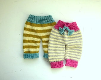 knitting pattern, newborn baby pants, PDF pattern, immediate download