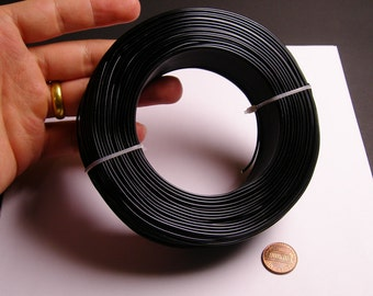Aluminum wire 15 gauge - 1.5mm - 328 foot rool - good quality - black  - anodized wire - 100 meter