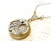 Clock Locket Necklace, Steampunk Locket Necklace, Clock Jewelry,Steampunk Necklace,Time Necklace