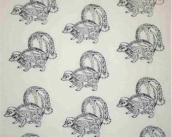 1 yard Skunk Hot Diggity Dog Fabrics Novelty Fabric