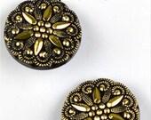 """LaPetite Buttons 1"""" Antique Gold Black La Petite Fashion Sewing Button 830"""