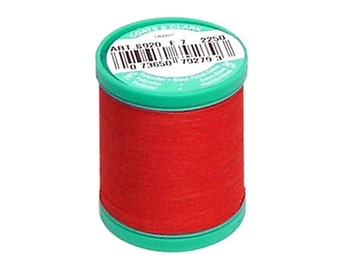 Button Carpet Thread  Coats and Clark C&C Dual Duty Red Heavy Duty Plus Strong
