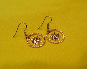 You are my sunshine bright copper earrings (Style #478)