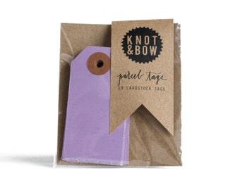 Violet Parcel Tags / Set of 10