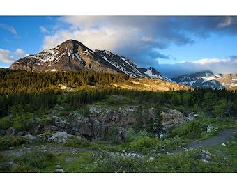 Many Glacier, Morning, Fine Art Photo Print, Glacier National Park, Montana, Nature Photography, Swiftcurrent, Cracker Lake, Sunrise, Clouds