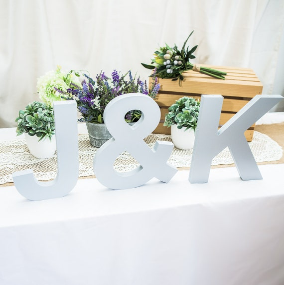Large 12 tall standing wooden letters freestanding 3 for Large freestanding wooden letters