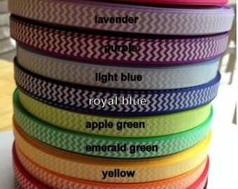 You Choose Colour Chevron Grosgrain Ribbon 3/8 Inch 9mm