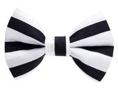 "Cat Bow Tie - ""The Cat Burglar "" -  Black and White Striped"