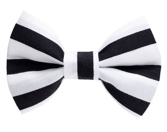 "Cat Bow Tie - ""The Cat Burglar "" -  Black and White Striped"