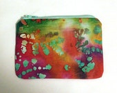 Watercolor Rainbow Zip Pouch - Small Zip Pouch Coin Purse Wallet