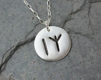 Two Rune charm necklace- Handmade Elder Futhark Rune- personalized runic symbols or initials - Viking - Monogram - free shipping usa
