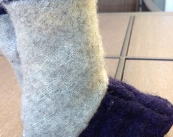 OOAK, Handcrafted Wool Baby Slippers