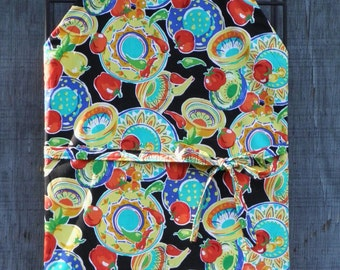 PASTA MOTIFS APRON, Tomatoes, Peppers & Pasta Plates,  Chef or Barbeque Apron for Him or Her