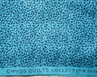 Fancy Free buds vines blue DS Quilts Denyse Schmidt fabric  FQ or more