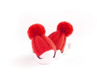 SALE 10% OFF Red egg warmers