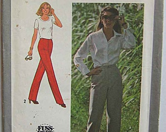 """Vintage 80's Misses' Pants Simplicity 9744 Sewing Pattern UNCUT Size 10, Waist 25"""""""