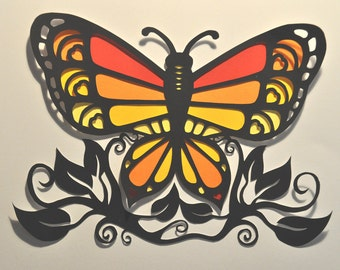 Butterfly And Leaves - DOWNLOAD TEMPLATE