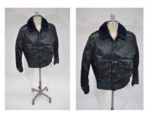 vintage jacket TUFFY JAC horace small jacket bomber 44 R large police cop jacket