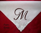 It is Understated Elegance-Wedding Hankies - Your gift for all of special people in your life, monogrammed handkerchief
