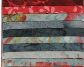 SPLASH  Bali Pops by Hoffman Fabrics 40 different 2 1/2 inch strips 100% Cotton Baitks