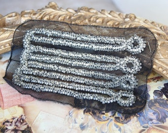 Embroidered and beaded  applique  trim  1 pieces listing