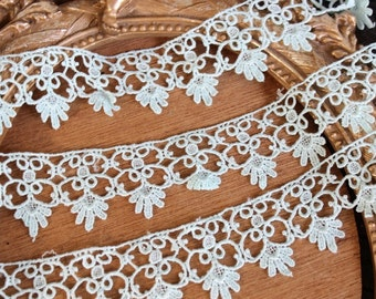 Very cute mint color    venice  lace  2  yard listing 1.5 inch wide