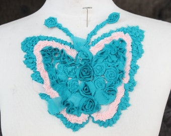 Cute  embroidered  chiffon    applique