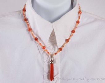 Carnelian Pendulum  necklace 2