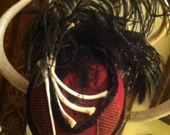Snake rib Showgirl Perch hat
