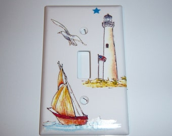 Sailing single light switch cover