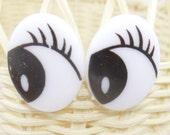 1 pair cartoon doll eyes for dollmaking or doll repair 18-21mm