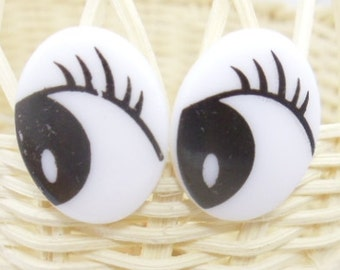 10 pairs cartoon doll eyes for dollmaking or doll repair 18-21mm