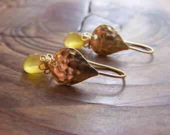 Butterscotch Chalcedony Earrings.