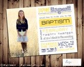 Printable MODERN LDS Baptism Announcement or Invitation -- A Custom  Digital invite or Printed for you