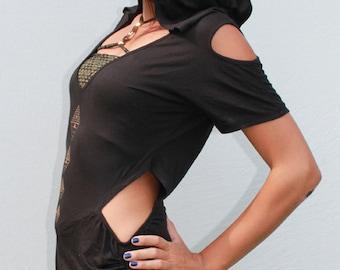 sale gypsy Pyramid Hoodie Top/dress Black ML