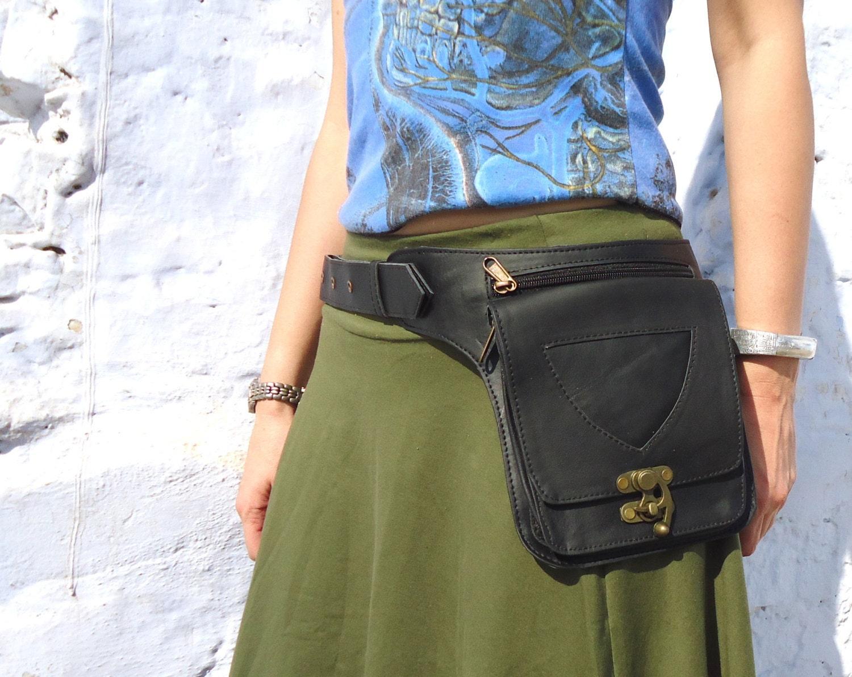utility belt leather belt bag hip belt fanny pack pocket. Black Bedroom Furniture Sets. Home Design Ideas
