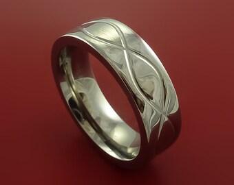 Titanium Celtic Band Infinity Symbolic Wedding Ring Custom Made to Any Size 3 to 22