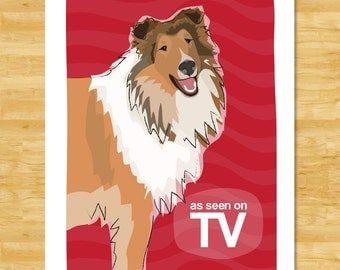 Collie Print - As Seen on TV - Collie Gifts Funny Dog Pop Art