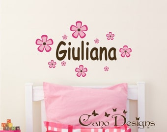 Personalized Name, Custom Vinyl wall decals stickers, living room, nursery, kids & teens room, removable decals stickers