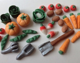 Handmade Gardening Allotment Cake Decoration Topper