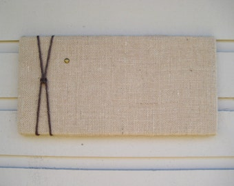 Burlap Bulletin Pin Board with Jute Twine, Message Board in Natural burlap, Photo Memory Board, Natural and modern decor