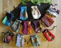 12 Pouches Medicine Bags Case Coin Change Purses Gift Bag Party Favors - Wool from Pendleton OR 4 x 4.5