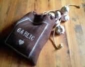 Burlap Garlic Bag