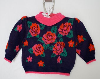Vintage Baby Rose Sweater size 6 months