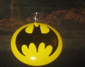 Vintage Batman Metal Charm Necklace