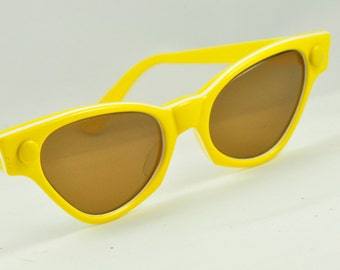 American Optical Vintage Sunglasses, Yellow With White Layer, Ready to Wear